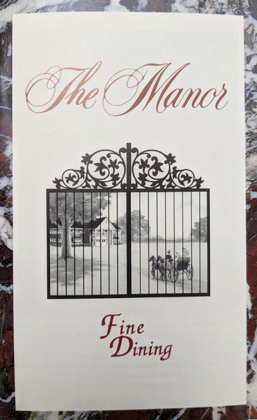 THE MANOR Le Dome Vintage Brochure Booklet Advertisement West Orange New Jersey