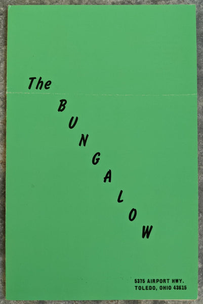 THE BUNGALOW Restaurant Menu Toledo Ohio
