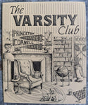 1980's The VARSITY CLUB Restaurant Vintage Mini Menu Fair Haven New Jersey