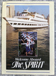 1980's The SPIRIT Of CHICAGO Cruise Ship Menu Brochure Lake Michigan Illinois