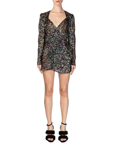 Attico - sequinned wrap dress