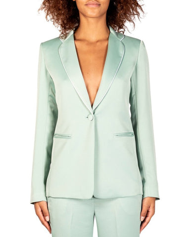 Giuliette Brown - Mint green single breasted blazer