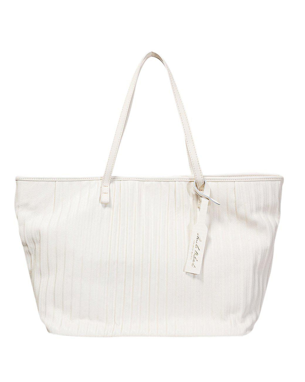 BIG NAPPA PLEATED SHOPPING BAG
