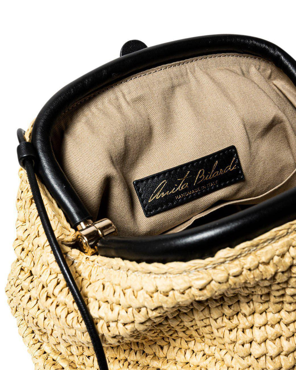 CRISS-CROSS RAFFIA CLUTCH BAG