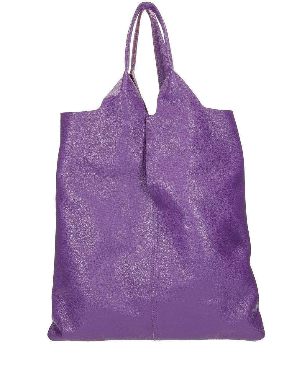 BURANALAB-TUMBLED LEATHER TOTE BAG-BAGS-ENVELOPE-DOLLARO-VIOLA D45-Tozzibologna.com