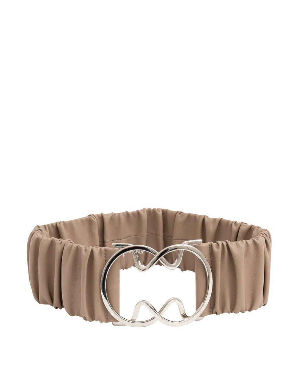 BEIGE STRETCH BELT WITH BUCKLE