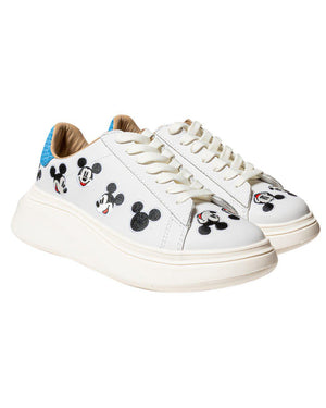 MICKEY MOUSE LEATHER PLATFORM SNEAKERS
