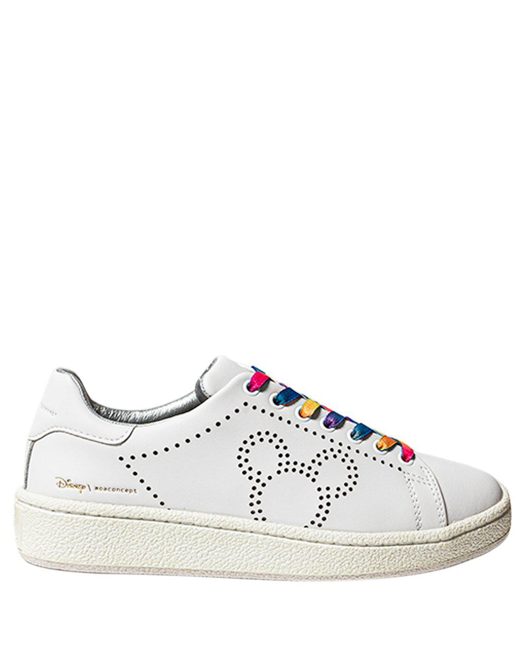 MICKEY MOUSE LEATHER SNEAKERS