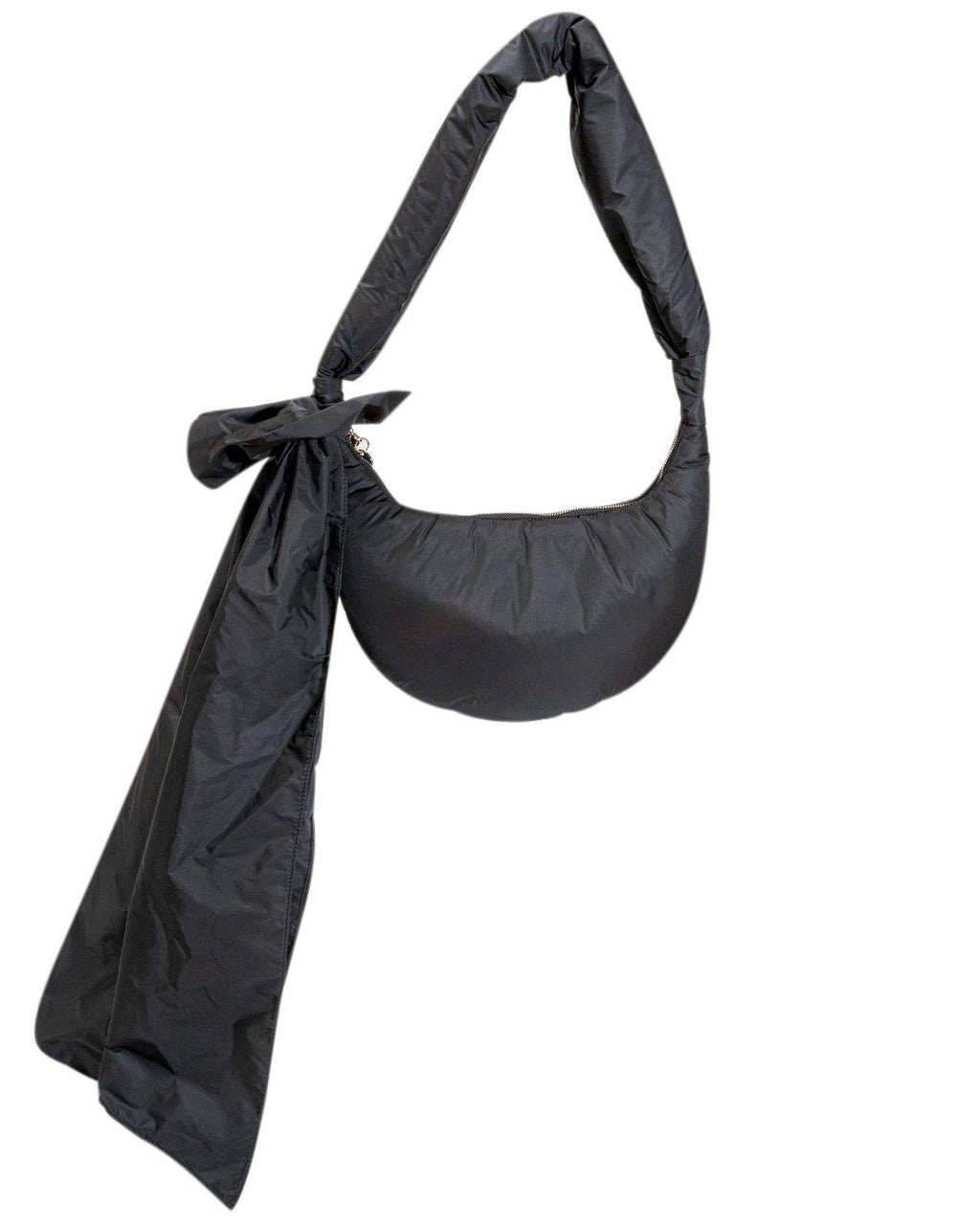 BLACK HOBO SHOULDER BAG