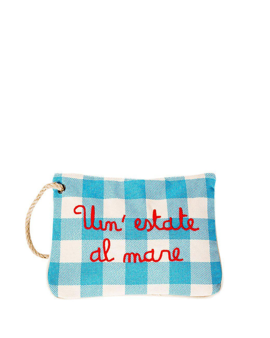 CHECK PATTERN CLUTCH BAG