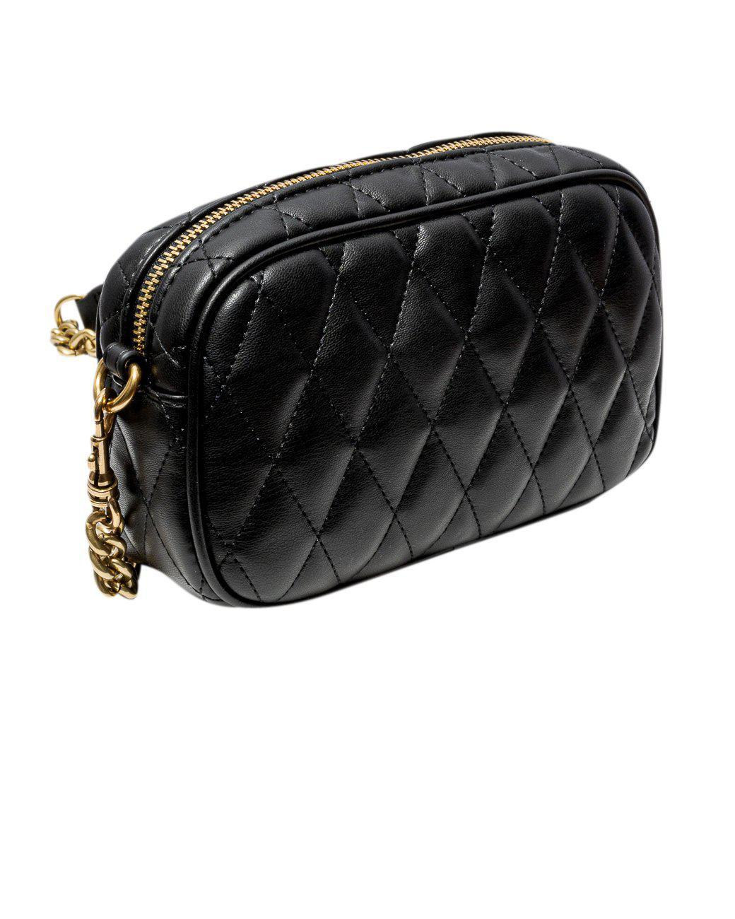 QUILTED SHOULDER BAG WITH STUDS