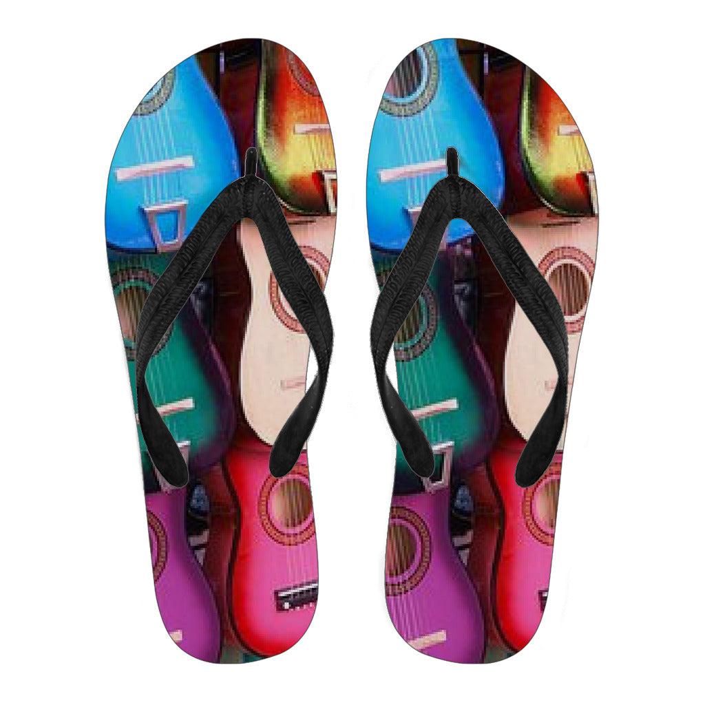 Guitar Burst  Women's Flip Flops - Fashion Factorys