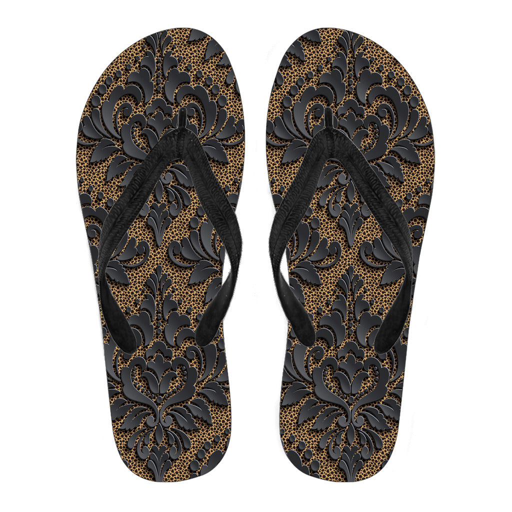 Royal Black Men's Flip Flops - Fashion Factorys