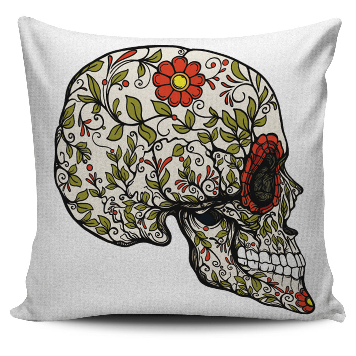 Skull Profile Pillow Cover - Fashion Factorys