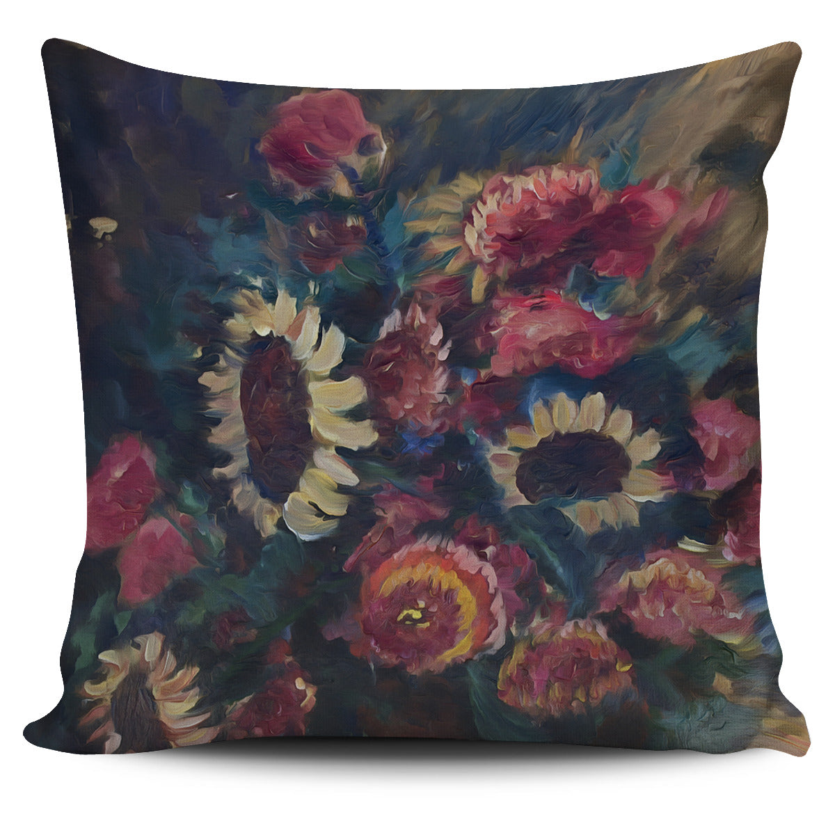 The Sunflower Bouquet Fine Art Pillow from Original Painting - Fashion Factorys