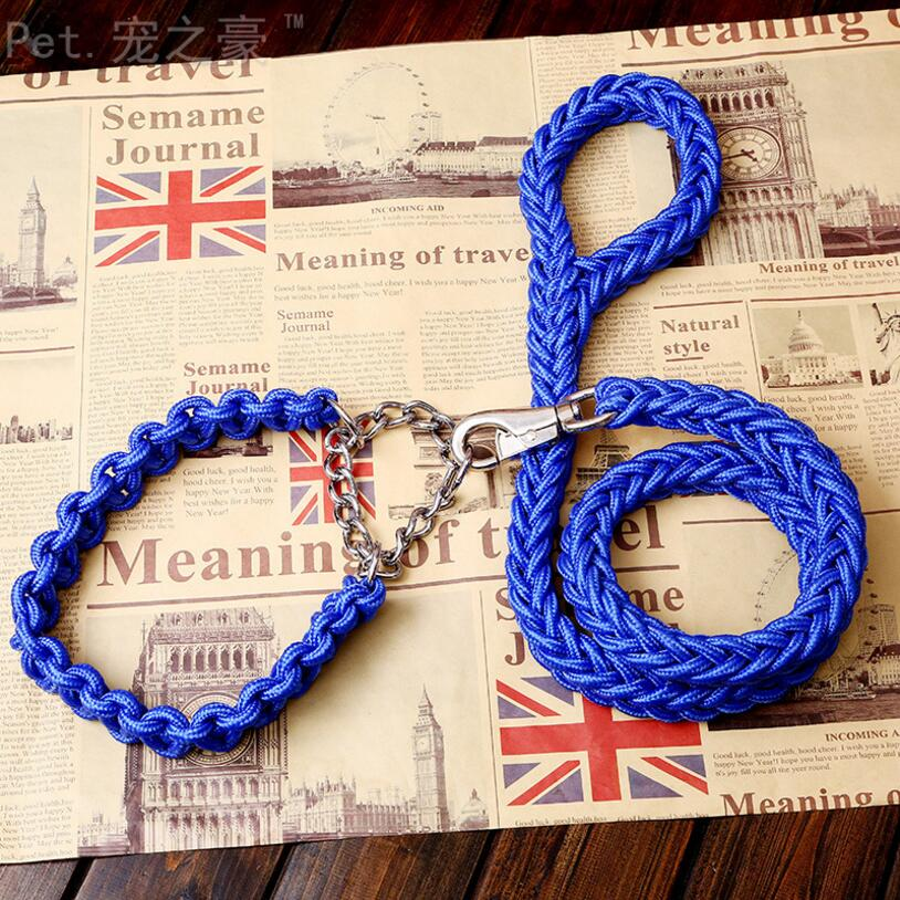 Double Strand Rope Large Dog Leashes