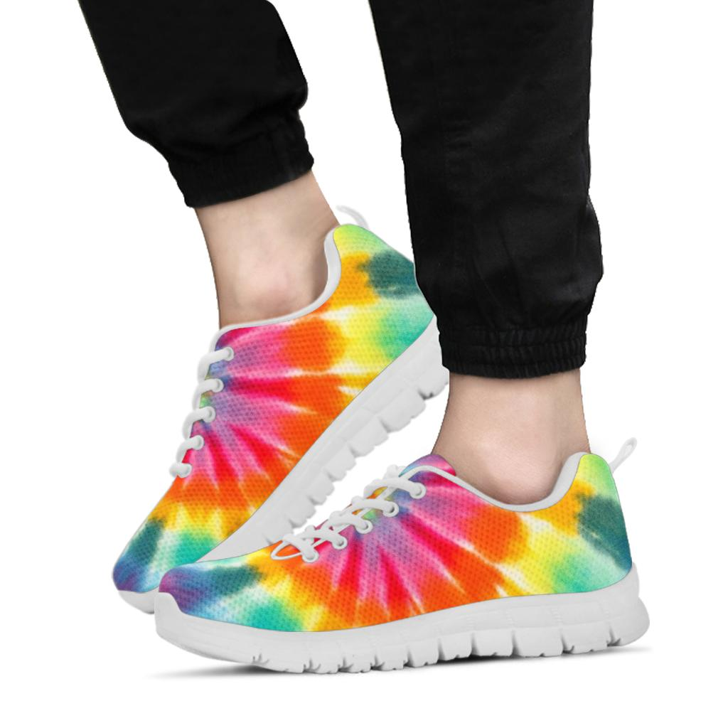 White Tie Dye Unisex Sneaker Shoes