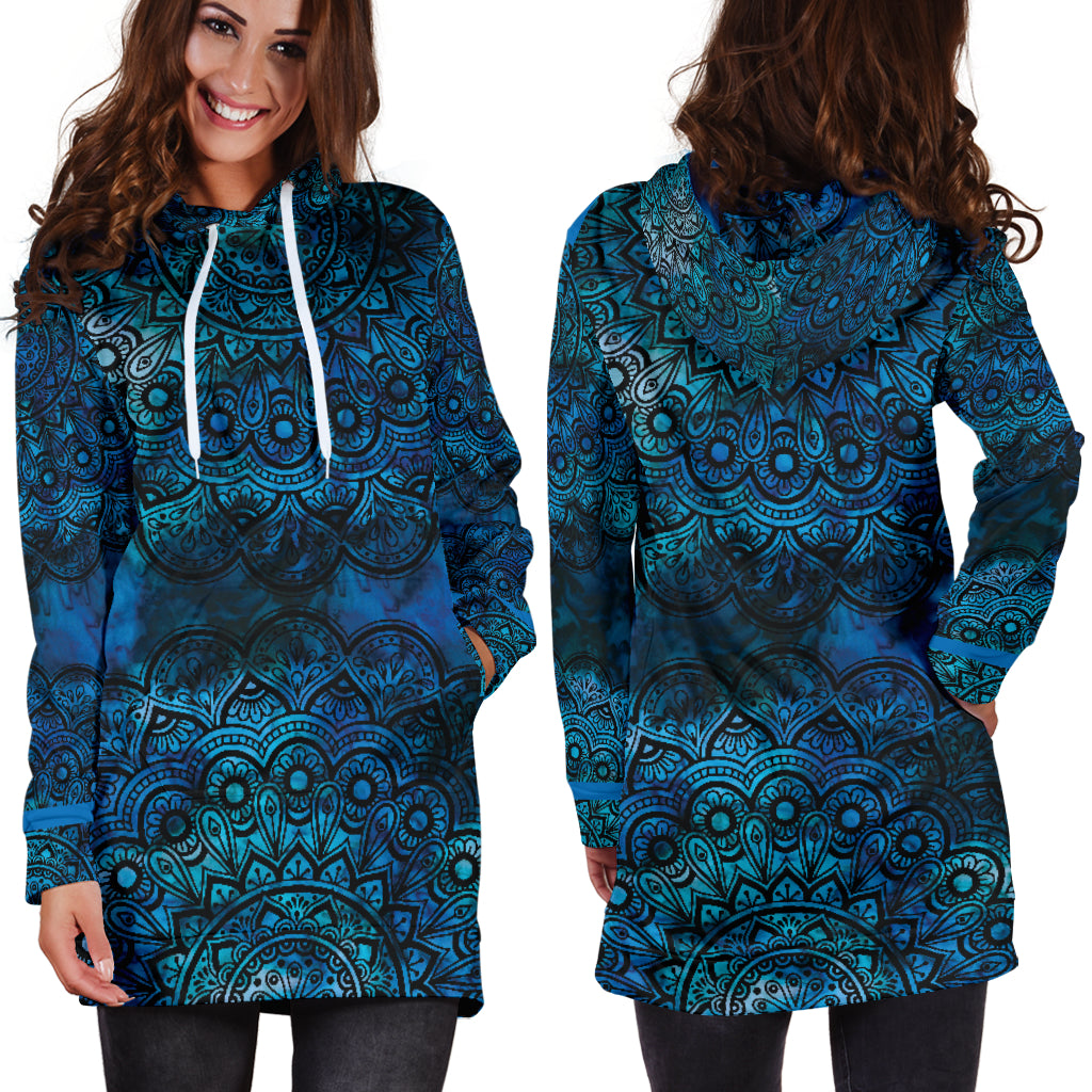 Mandala 2 Hoodie Dress - Fashion Factorys