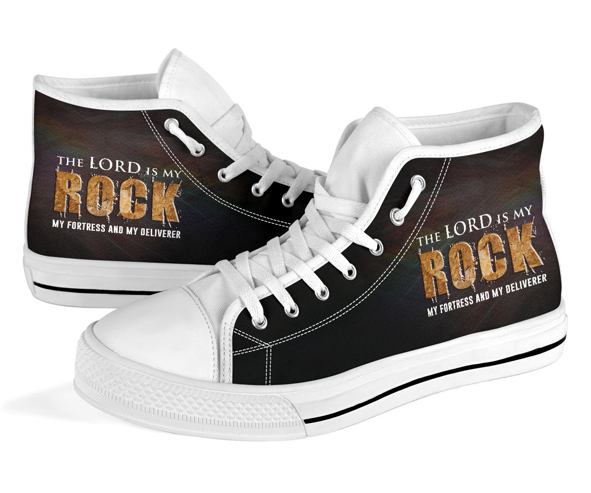 My Rock, My Fortress and Deliverer - High Top Shoe - Fashion Factorys