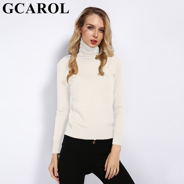 New Women 30% Wool Turtleneck Sweater  Tops