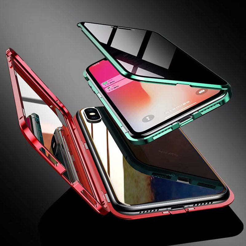 Anti Peep Privacy Magnetic Glass Phone Case