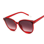 New Classic Oval Red Women Sunglasses