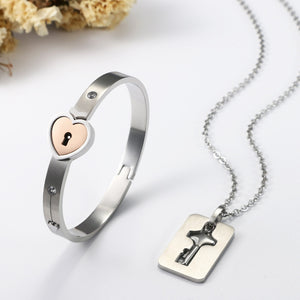 Love Lock Necklace Set - Fashion Factorys