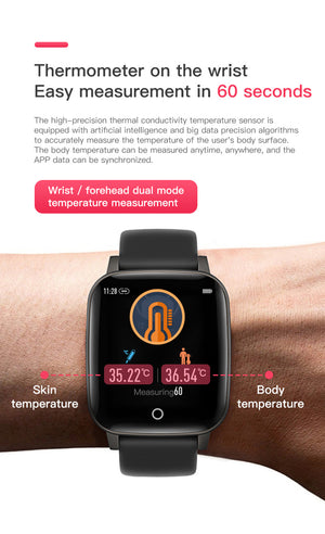Body Temperature Measure  Smart Watch - Fashion Factorys