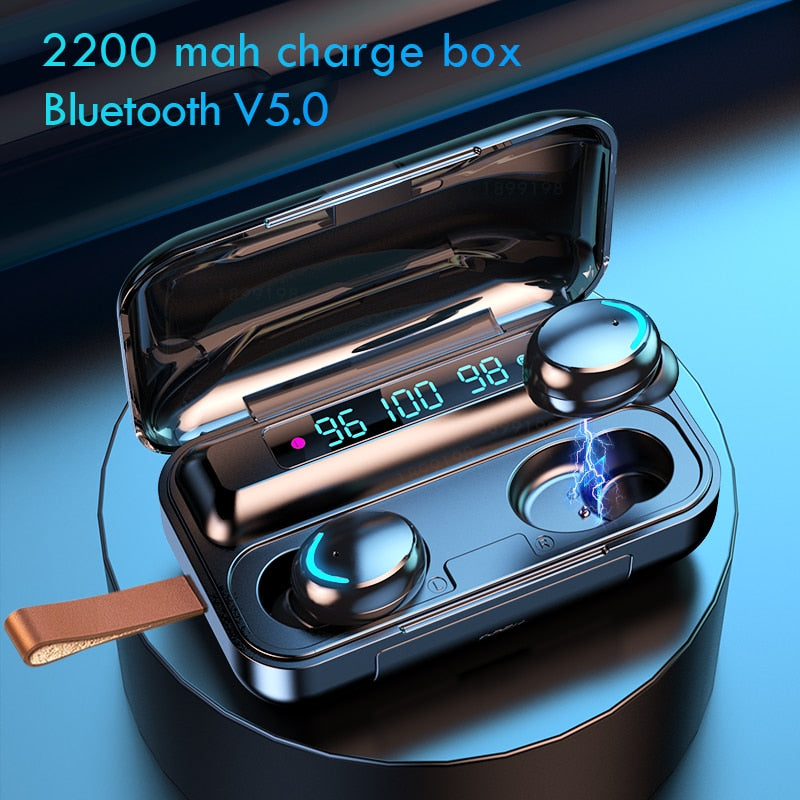 Bluetooth Touch Earbud With Cord With Mic