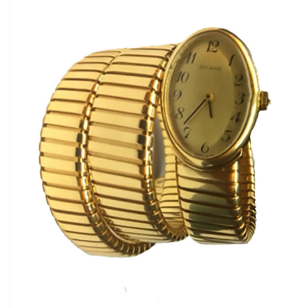 Bulgari Ladies yellow gold Tubogas Bracelet Wristwatch