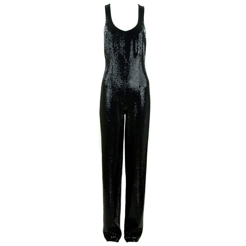 Michael Kors Black Sequin Jumpsuit