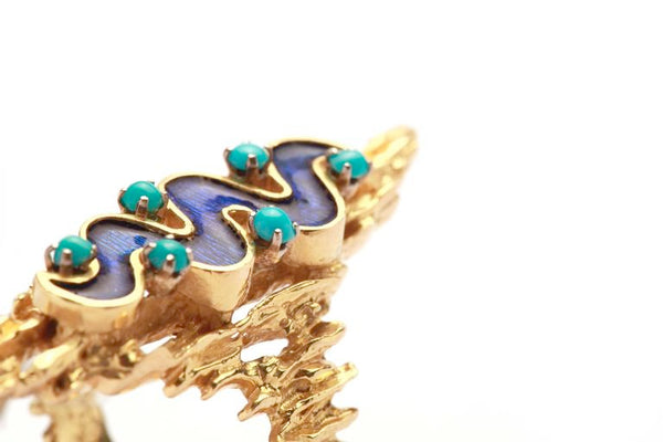 1960s Italian Enamel Gold Ring