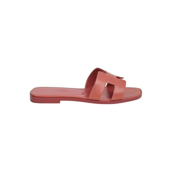 Hermes Oran Sandal Rouge Blush Chevre 37 / 7 new