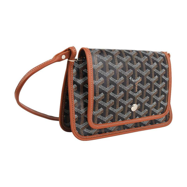 Goyard Plumet Bag Crossbody Wallet Brown / Black Coated Canvas New