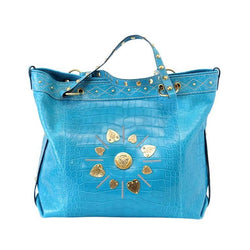 Gucci Exclusive Limited Edition Turquoise Crocodile Irina Tote Bag new