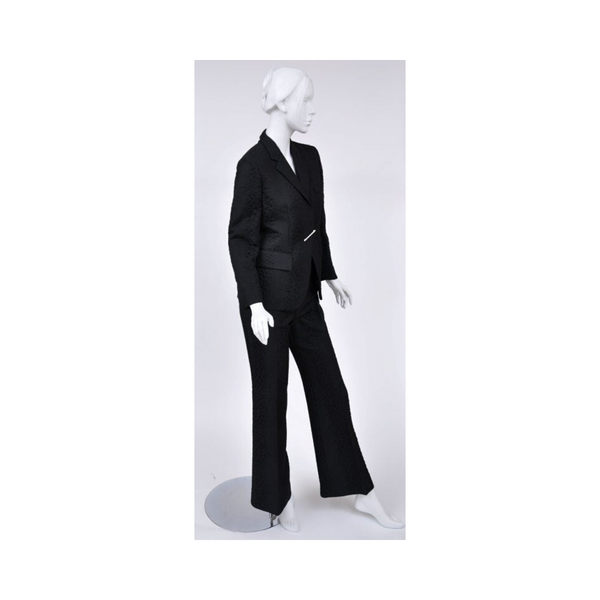 S/S 2000 Vintage Tom Ford for Gucci Crocodile Textured Pant Suit with Pin