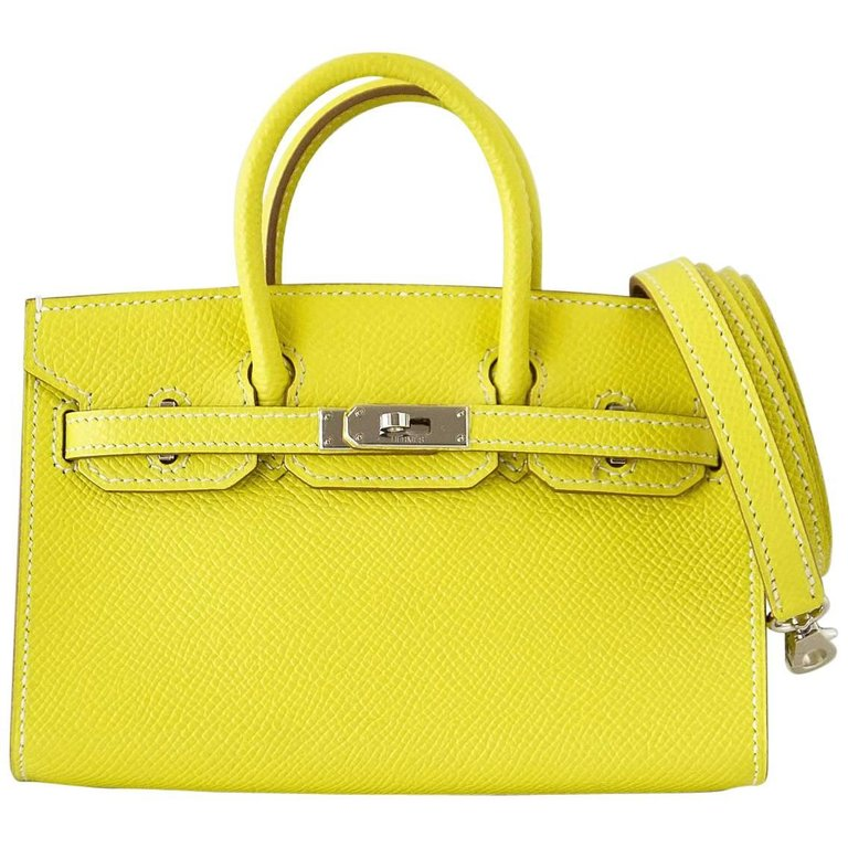 Hermes Birkin Bag Tiny Miniature Micro Lime Limited Edition rare