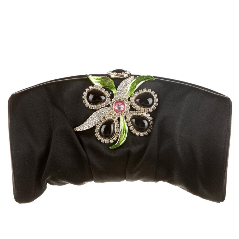 2004 Tom Ford for YSL Embellished Satin Clutch