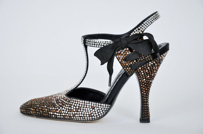Tom Ford for Yves Saint Laurent Rhinestone Spectator Shoes Size 6