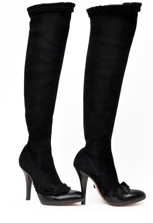 A/W 2001 TOM FORD for YVES SAINT LAURENT BLACK OTK BOOTS