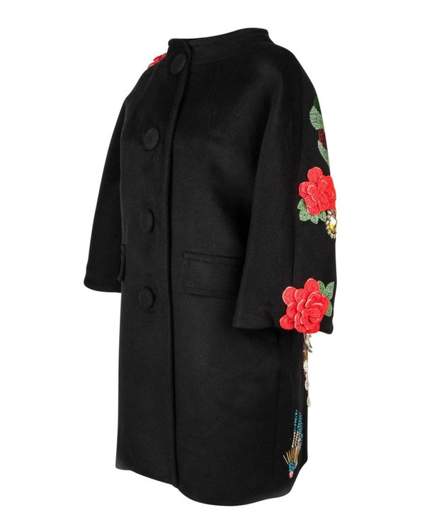 Libertine Limited Edition Rear Skull Embellished Unisex Black Coat New S