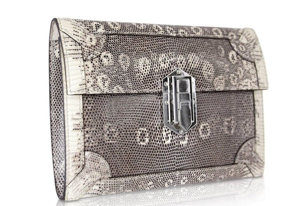 Hermes Fleche D'Or Ombre Lizard Limited Edition Clutch Bag