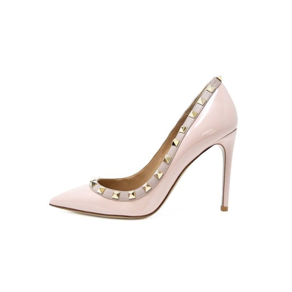 Valentino Rock Stud Light Pink Patent Leather Pumps