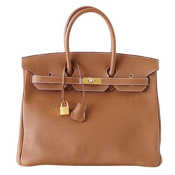 Hermes Birkin 35 Bag Coveted Gold Togo Gold Hardware Iconic Classic