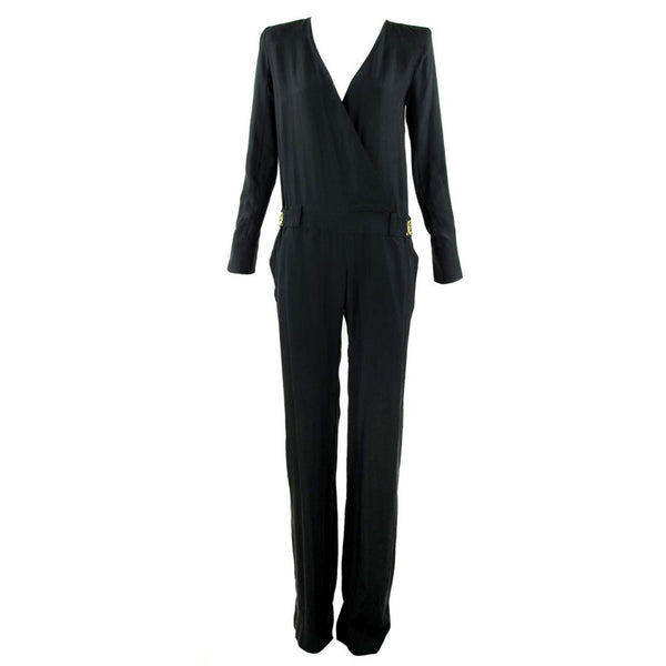 Chloe Black Low V-Neck Jumpsuit