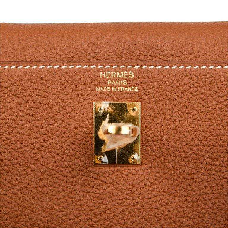 Hermes Kelly 25 Retourne Bag Coveted Gold Togo Gold Hardware