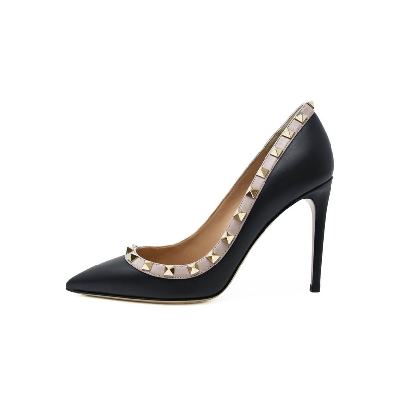 Valentino Black Rock Stud Pumps