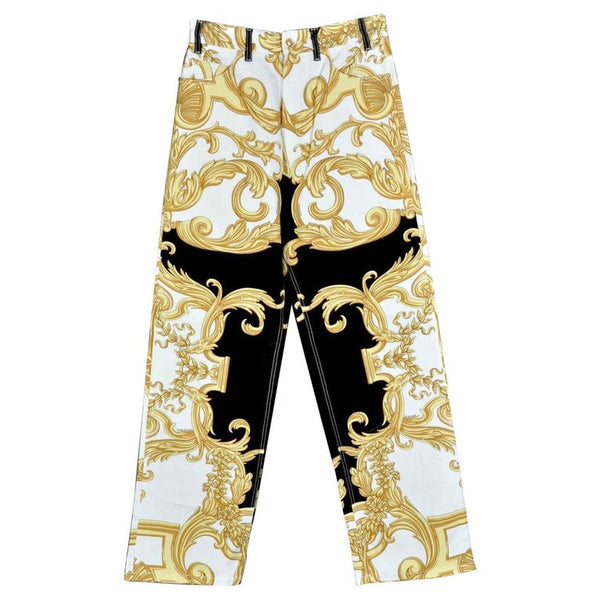 NEW VERSACE BAROCCO PRINTED JEANS for MEN size 32