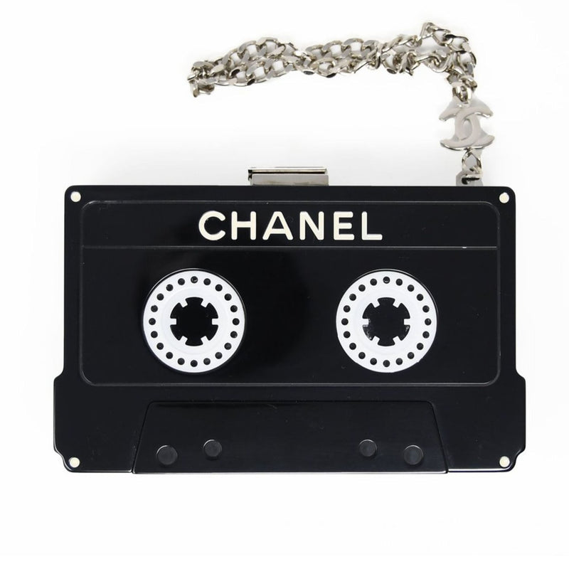 Chanel Cassette Tape Lucite Clutch