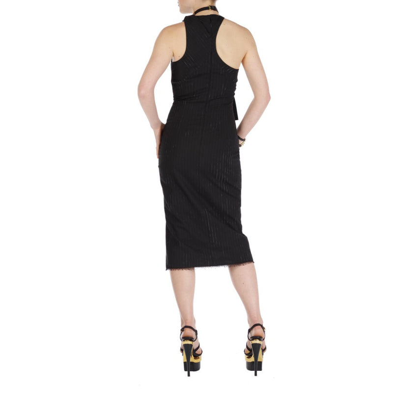 Versace Asymmetric Knot Dress with Thigh High Slit